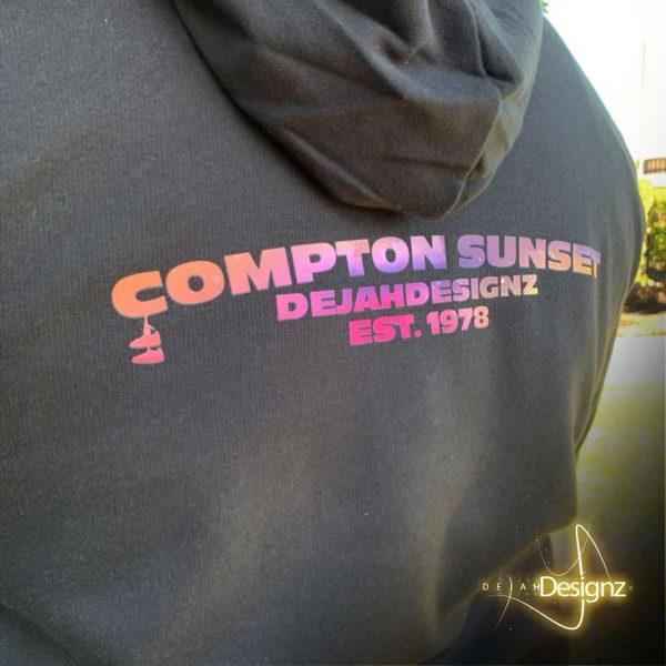 Compton Sunset Hoodie - Black - back