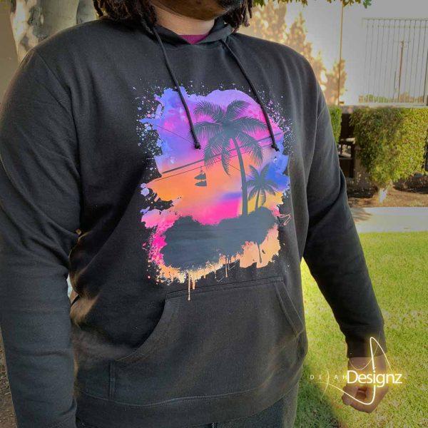 Compton Sunset Hoodie - Black