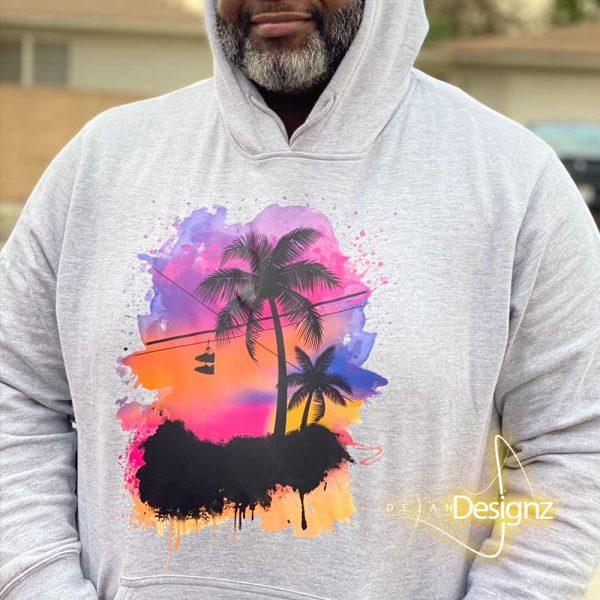 Compton Sunset Hoodie - Athletic Gray