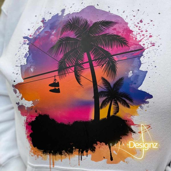 Compton Sunset Hoodie - White