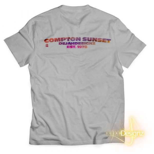 Compton Sunset - Athletic Gray - back