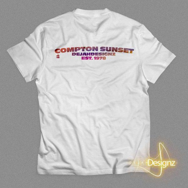 Compton Sunset - White - back